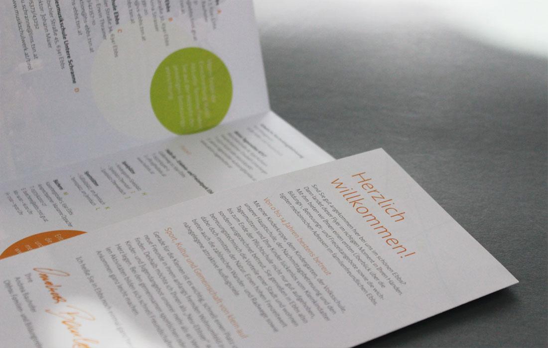 Projekt Willkomensfolder Ebbs – Martin Eiter –Agentur für Grafik und Corporate Design