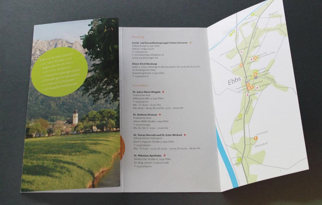 Projekt Willkomensfolder Ebbs– Martin Eiter –Agentur für Grafik und Corporate Design