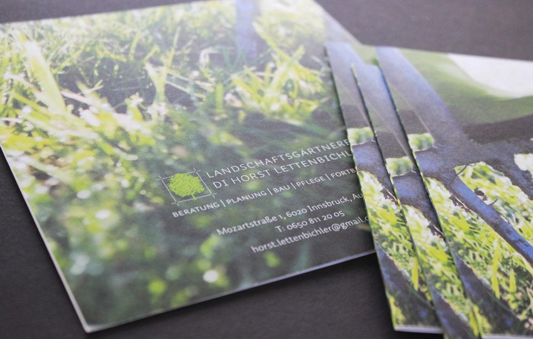 Projekt Landschaftsgärtnerei Horst Lettenbichler – Martin Eiter –Agentur für Grafik und Corporate Design