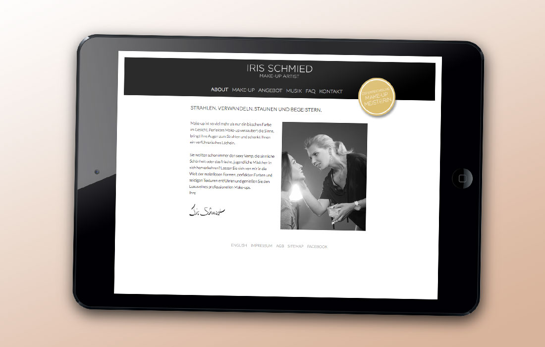 Projekt Iris Schmied – Martin Eiter –Agentur für Grafik und Corporate Design