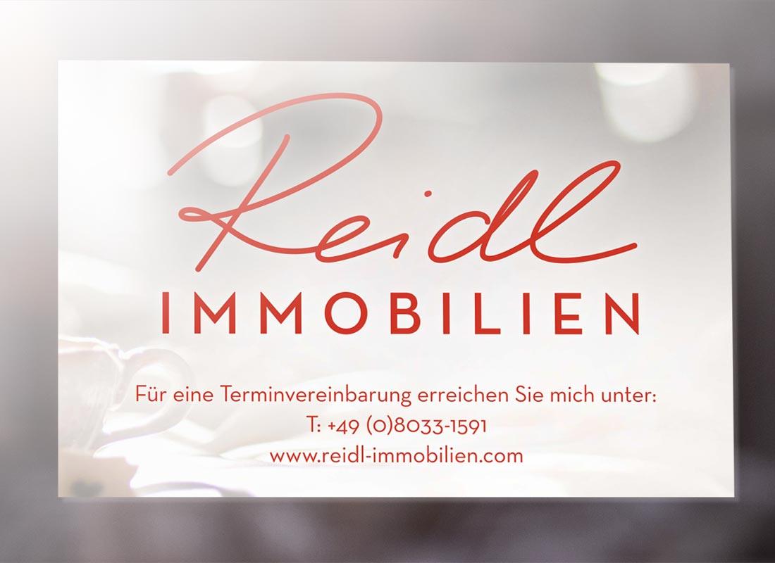 Projekt Reidl Immobilien – Martin Eiter –Agentur für Grafik und Corporate Design