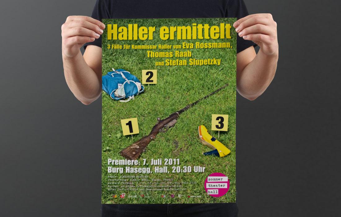 Projekt Sommertheater Hall – Martin Eiter –Agentur für Grafik und Corporate Design